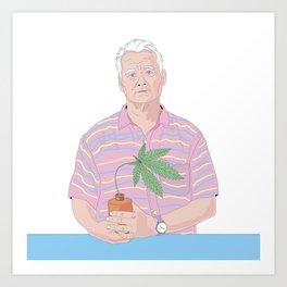 Bill Murray holding a pot Art Print