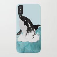 killer whale iPhone & iPod Cases featuring The Killer Whale  by Jasmine Smith