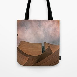 Architectural abstract of the home of the LA Philharmonic. Architect: Frank Gehry Tote Bag
