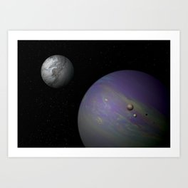 Hot Jupiter with Moons Art Print
