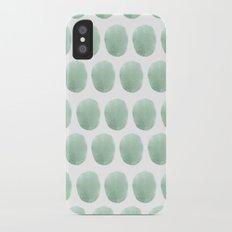 Watercolour polkadot iPhone X Slim Case