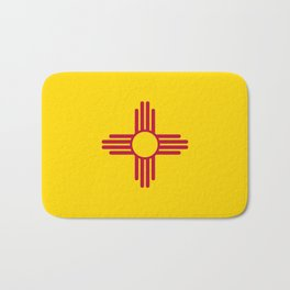 State flag of New Mexico - Authentic version Bath Mat