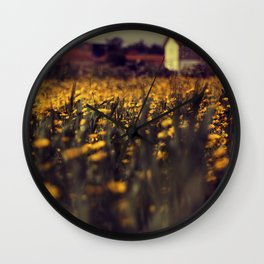 a sea of daisies Wall Clock