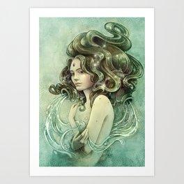 Zodiac Aquarius Art Print