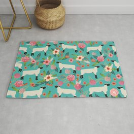 Show Lamb farm floral gifts homesteader farming sheep lamb animal Rug