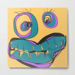 Yellow Crazy Eyes Metal Print