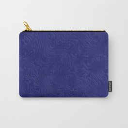 Rich Royal Blue Rippled Moiré Pattern Carry-All Pouch