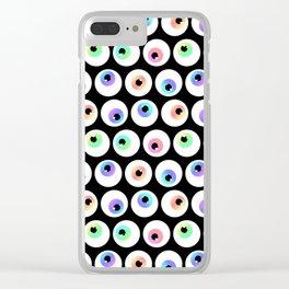 Lovely Sparkly Rainbow Eyeballs Clear iPhone Case