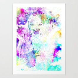 Girl bouquet Art Print