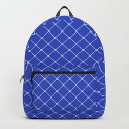 Royal Blue Light Classic Diagonal Grid Backpack