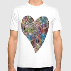 Love Doodle MEDIUM Mens Fitted Tee White