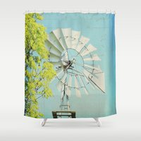 american beauty Shower Curtains featuring American Beauty Vol 20 by Farmhouse Chic