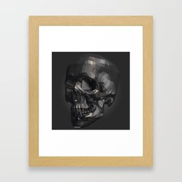 Skull in Low Poly Style Framed Art Print