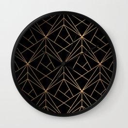 Elegant geometric copper black Wall Clock