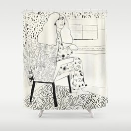 Sound of fingertips Shower Curtain