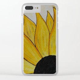 You Are My Sunshine (Sunflower) Clear iPhone Case