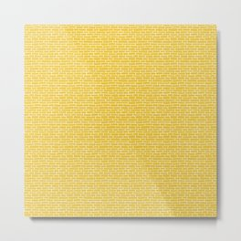 Brick Road - Yellow and white Metal Print