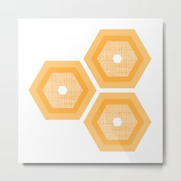MCM Honey Metal Print