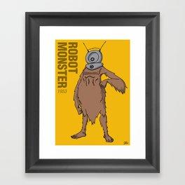 Robot Monster (1953) - 50s monster sci-fi horror movie poster Framed Art Print