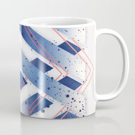 Indigo Hexagon :: Floating Geometry Coffee Mug
