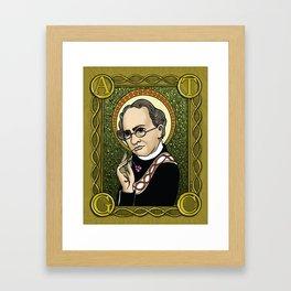 St. Mendel Framed Art Print