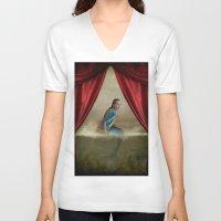 mermaid V-neck T-shirts featuring Mermaid by Maria Kanevskaya