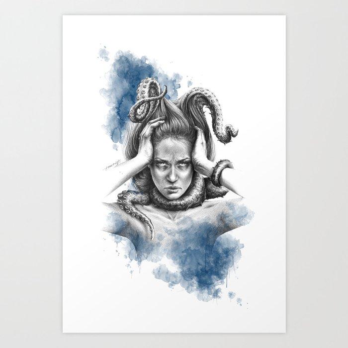 Nothing kills me like my mind Art Print