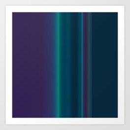 Royal Purple Aqua Stripes Art Print