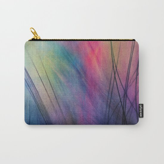 Tropical Feather Abstract Carry-All Pouch