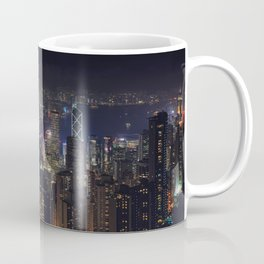 Hongkong Skyline at night Coffee Mug
