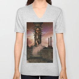 The  Totem place Unisex V-Neck