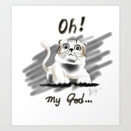 Scared Cat Art Print