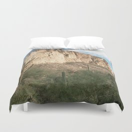 Cactus and Mountains Duvet Cover