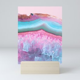 Rose Quartz and Serenity Agate Mini Art Print