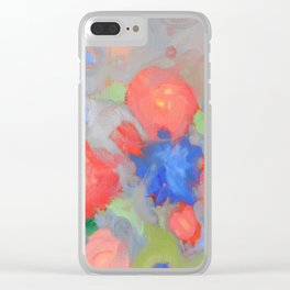 Apricot Garden Clear iPhone Case