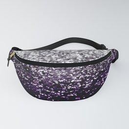 Dark Night Purple Black Silver Glitter #1 #shiny #decor #art #society6 Fanny Pack