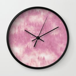 Run away with me my love Wall Clock