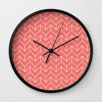 chevron Wall Clocks featuring Chevron by Dizzy Moments