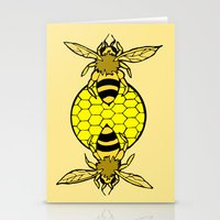 bees Stationery Cards featuring Bees by Chelsey Hamilton