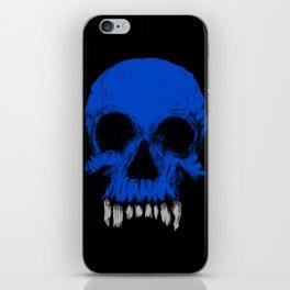 The Blue Skull iPhone Skin