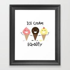 Ice cream Equality (reloaded) Framed Art Print