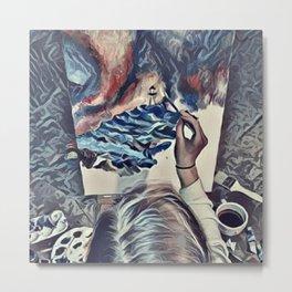 The Universe Inside My Head (Overhead) Metal Print