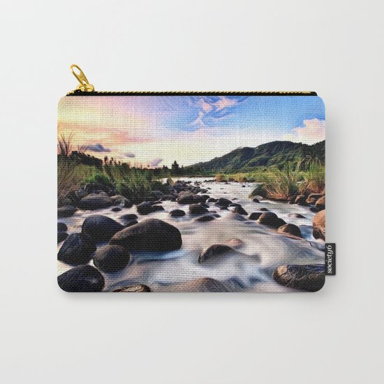Gorgeous Epic River in Landscape with Sunset Carry-All Pouch