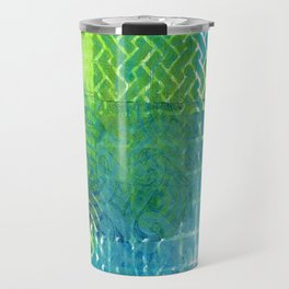 Industrial Blues and Greens Travel Mug
