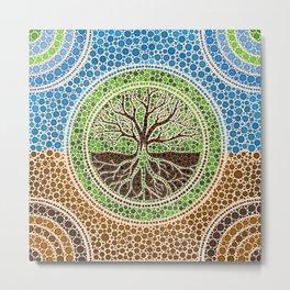 Yggdrasil- Tree of life Dot Art #1 Metal Print