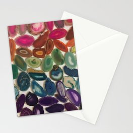 Rainbow Agates Stationery Cards
