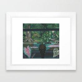 An emotional exhibitionist Framed Art Print