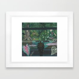 An emotional exhibitionist Framed Art Print