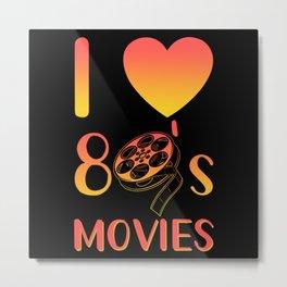 80s Films 80s Film Fan Metal Print