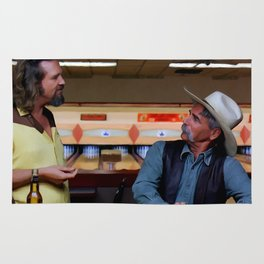 Jeff Bridges & Sam Elliot @ The Big Lebowski (Joel and Ethan Coen - 1988) Rug